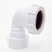 Polypipe Waste Compression Knuckle Bend 90 Degrees White 32mm