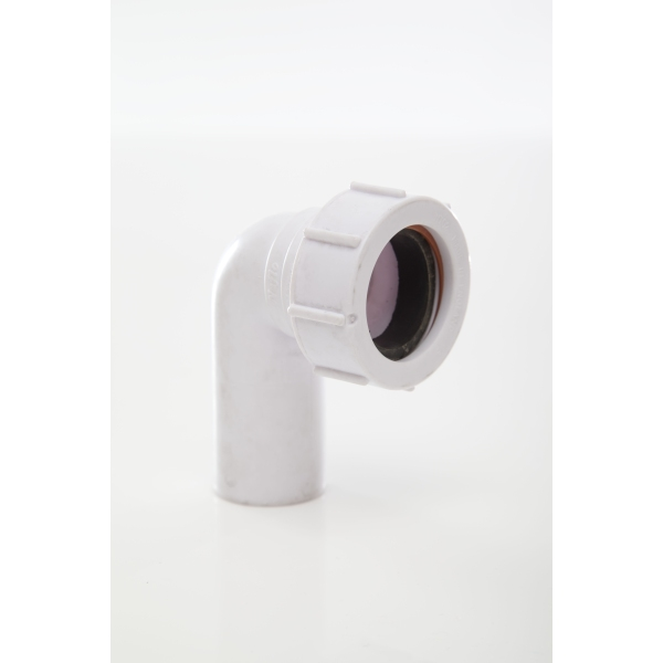 Polypipe Waste Compression Swivel Elbow 32mm x 90 Degrees White