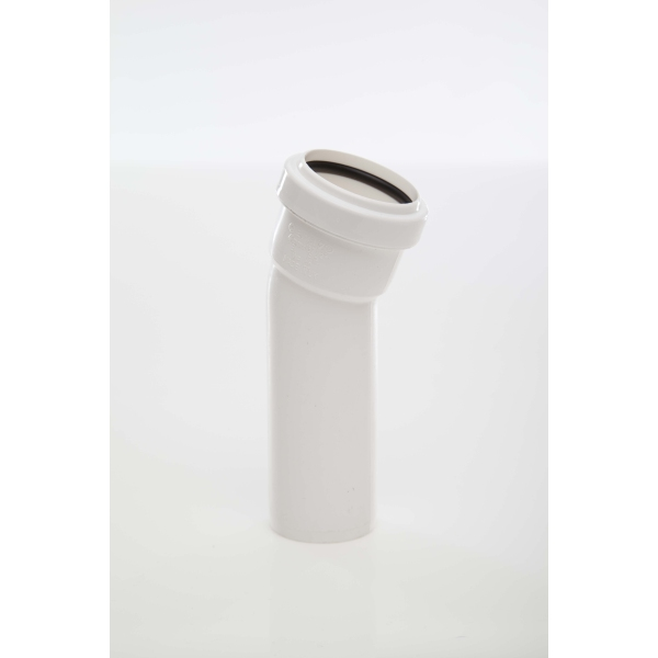 Polypipe Waste Push Fit Obtuse Bend 40mm x 157 Degrees White