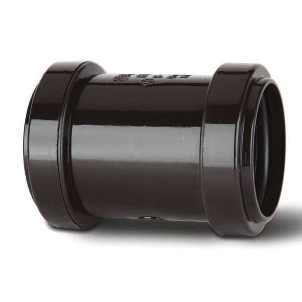 Polypipe Waste Push Fit Straight Coupler 40mm Black
