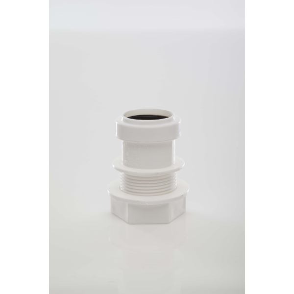 Polypipe Waste Push Fit Tank Connector 32mm White
