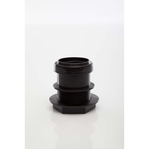 Polypipe Waste Push Fit Tank Connector 40mm Black