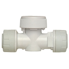 Polyplumb 15mm Shut Off Valve (Hot Water) White