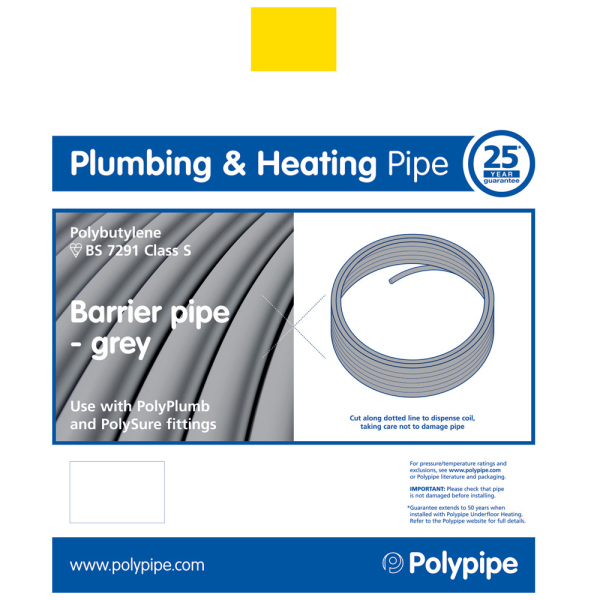 Polyplumb Barrier Pipe 15mm x 25m