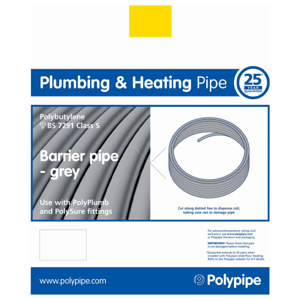 Polyplumb Barrier Pipe 15mm x 80m
