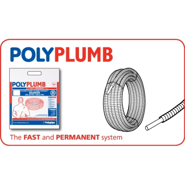 Polyplumb Barrier Pipe-in-Pipe Coil 10mm x 50m