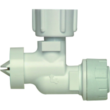 "Polyplumb Swivel Service Valve 22mm x 1/2 "" White"