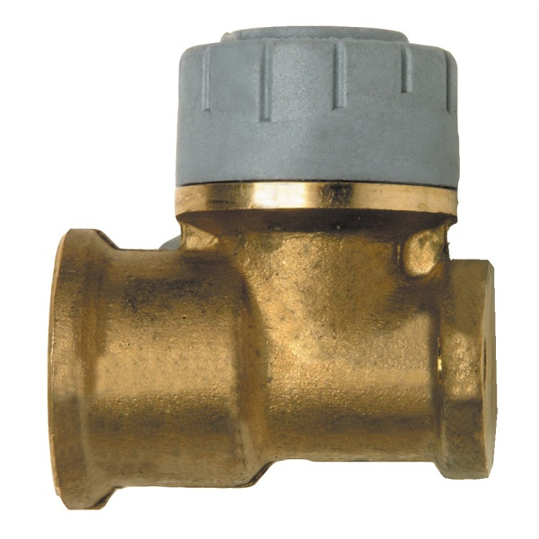 Polyplumb Wall Elbow 15mm Brass