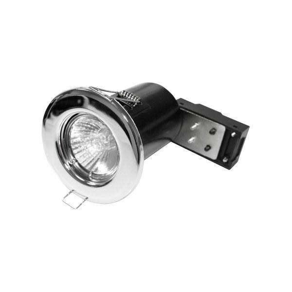 Powermaster 50W GU10 Fire Rated Fixed Downlight Chrome