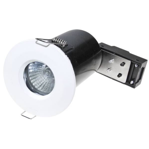 Powermaster 50W GU10 IP65 Fire Rated Fixed Downlight White