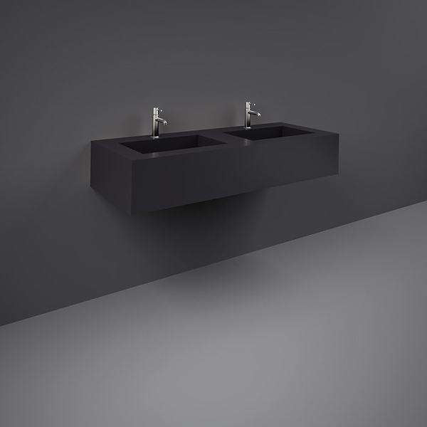 Precious Wall Hung Counter Basin 1200mm 1TH Black