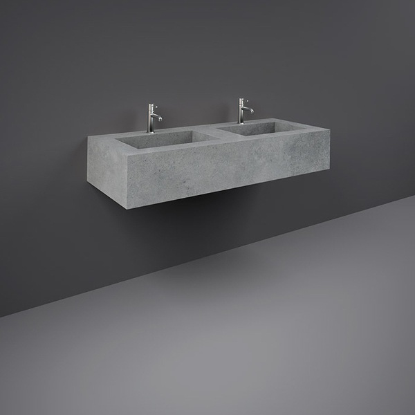 Precious Wall Hung Counter Basin 1200mm 1TH C-Grey