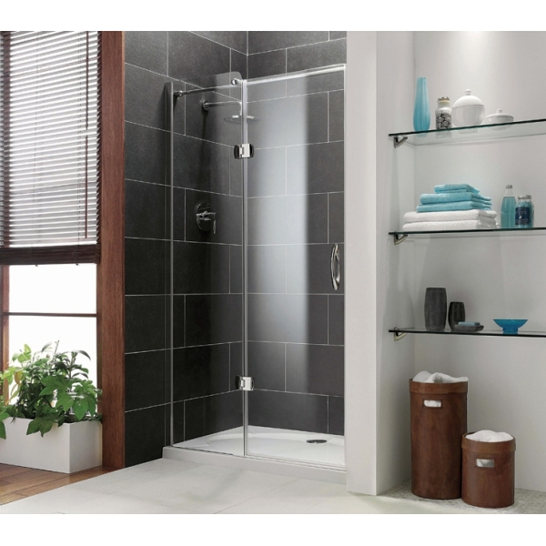 Premier frameless Hinged Door Plain Glass Chrome 1200mm Left Hand Plain Glass Chrome