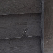 Pre-Painted Rebated Featheredge Cladding Black 32x175mm x 4.3m
