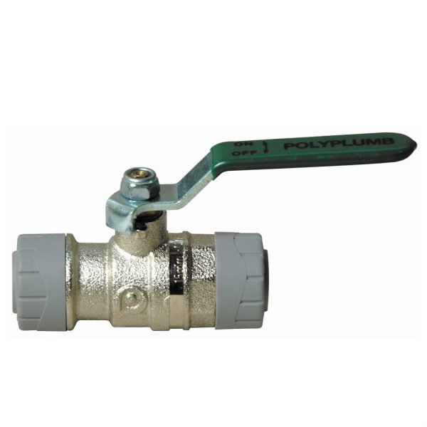 Quarter Turn Ball Valve Nickel Plated Brass 15mm