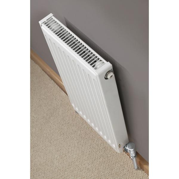 Quinn Heated Towel Rails: Quinn Compact Radiator Single Radiator 600x600 Q11606KD