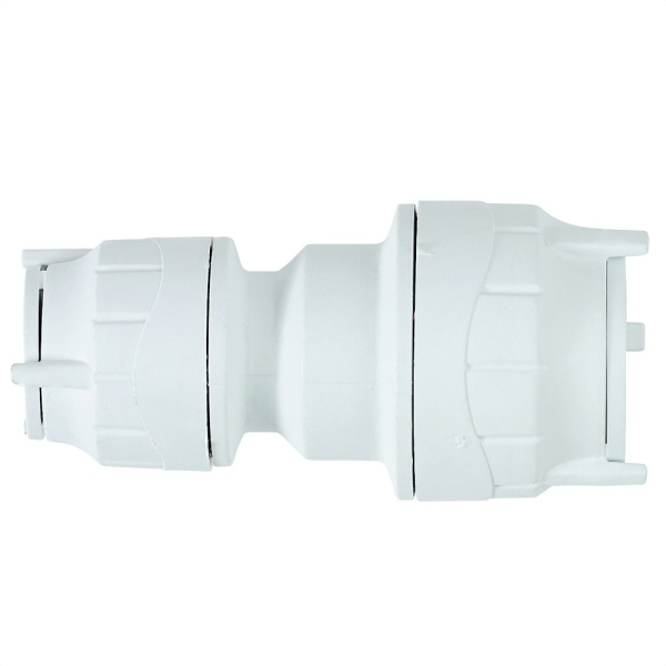 Polyfit Reducing Coupler White 22mm x 15mm