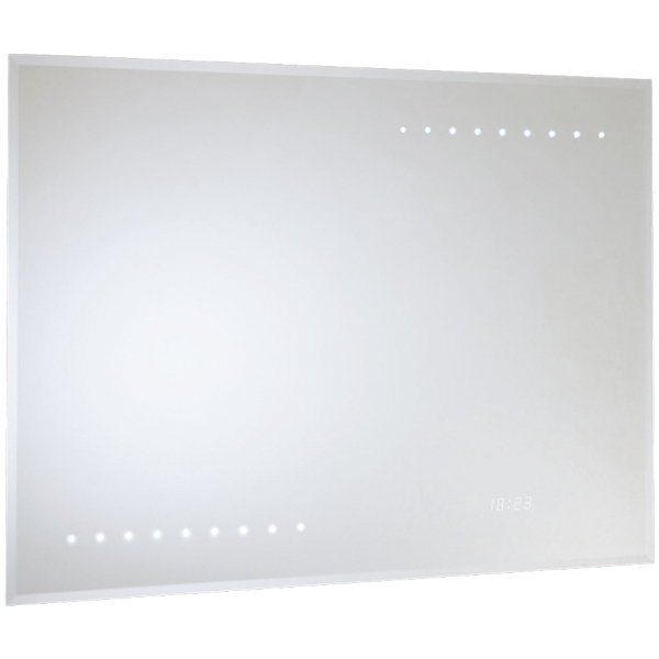 Renoir LED Bevel Edge Mirror Shave and Demist 600x800
