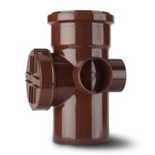 Ring Seal Soil Access Pipe Socket Brown 110mm