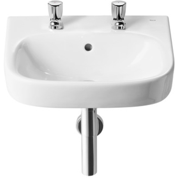 Roca Debba Wall Hung Basin Unit 550 2 Tapholes