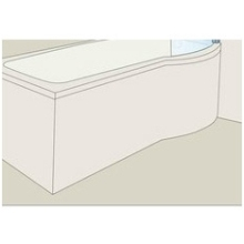 ROCA GIRALDA 1700mm Front Bath Panel   White