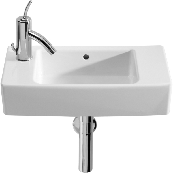 Roca Hall Basin 1 Tap Hole 1 Tap Hole Left Handed White