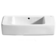 Roca Hall Basin No Tap Hole White