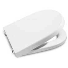 Roca Meridian Compact Toilet Seat Soft Close White