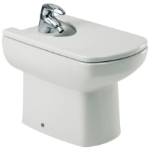 ROCA SENSO COMPACT Back To Wall Bidet 1 Tap Hole with Fixing Kit  White