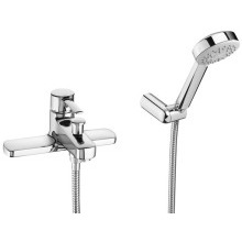 Roca Targa Deck Mounted Bath Shower Mixer Chorme