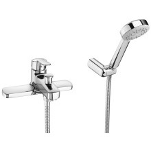 Roca Victoria Deck Mounted Bath Shower Mixer Chrome