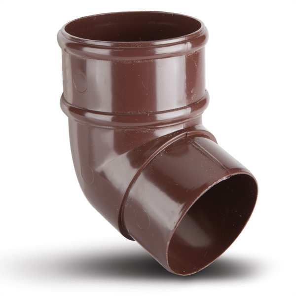 Round Downpipe Offset Bend 112.5 Brown 68mm