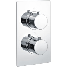 Round Dual Oulet 2Hnd Thermo Consealed Shower Valve