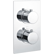 Round Single Outlet 2Hnd Thermo Concealed Shower Valve