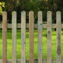 Round Top Palisade Picket Fence