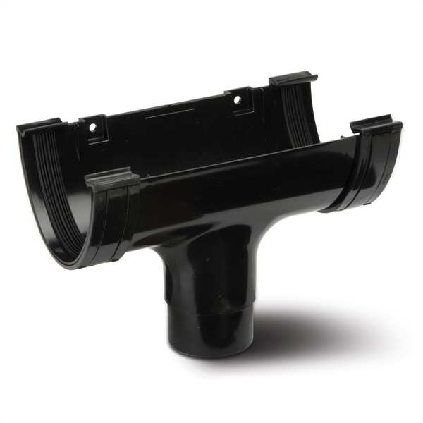 Running Outlet Gutter Black 117mm