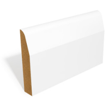 SAM 22 PRIMED MDF CHAMFERED & ROUND SKIRTING 18 x 94mm