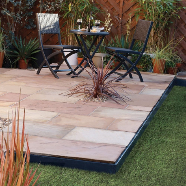 Sandstone Mini Patio Kit Fossil Buff