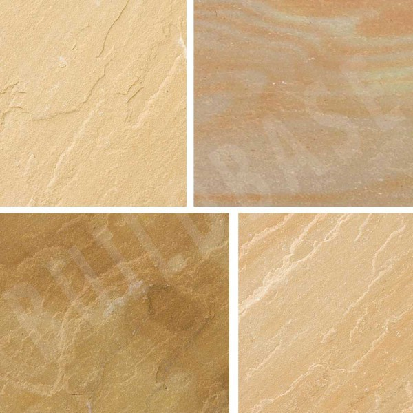 Sandstone Paving Sunset Buff 600x600