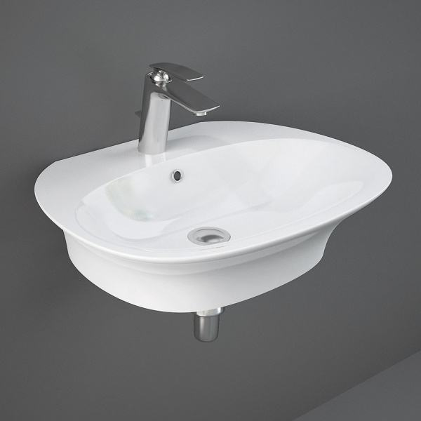Sensation Wall Hung Basin 1Tap Hole 60cm