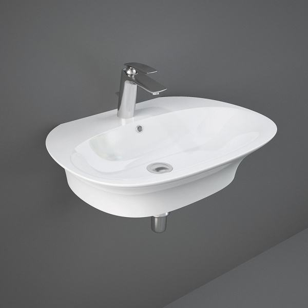Sensation Wall Hung Basin 1Tap Hole 65cm