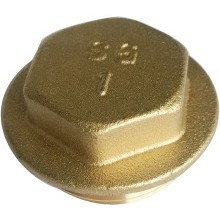 "SG 1"" Brass Flanged Plugs 5pk"