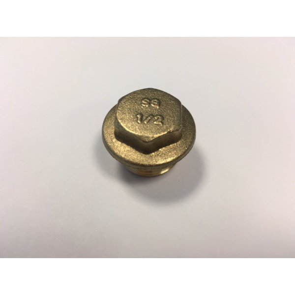 "SG 1/2"" Brass Flanged Plugs 10pk"