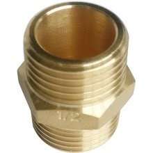 "SG 1/2"" Hex Nipple Brass 10pk"