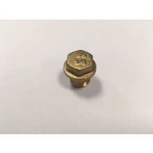 "SG 1/4"" Brass Flanged Plugs 10pk"