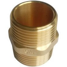 "SG 3/4"" Hex Nipple Brass 10pk"