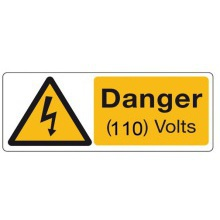 Sign Danger Rigid 50x20mm Pk5