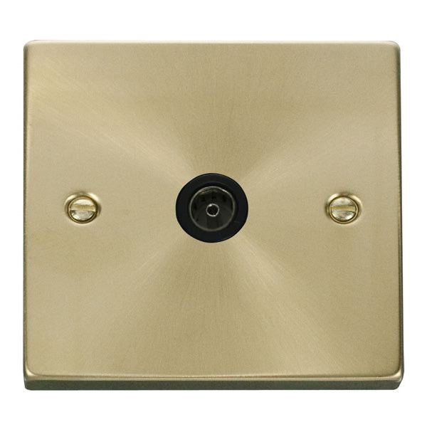 Click VPSB065BK Single Coaxial Socket Outlet