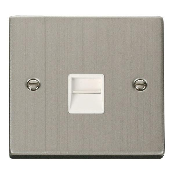 Click VPSS125WH Single Telephone Socket Outlet Secondary