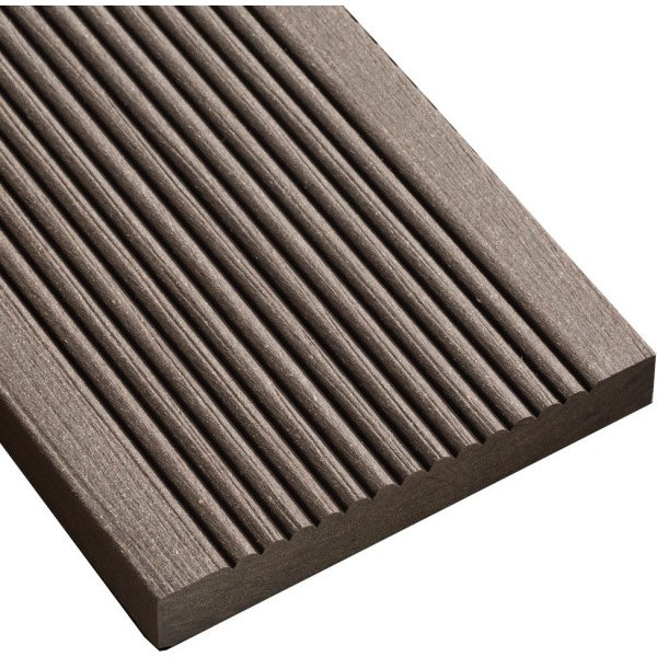 SmartBoard Decking Battleship Chocolate Brown 20x138x3600mm